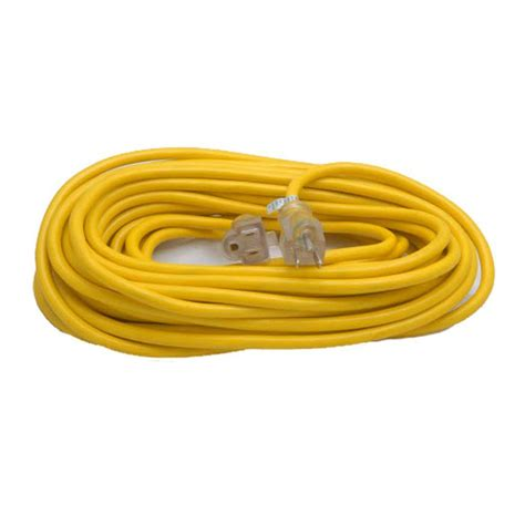 gentran 25 ft 14 1 yellow extension cord with standard 15