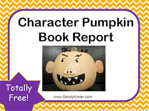 pumpkin book report template common to the i ve been boo d some freebies for you