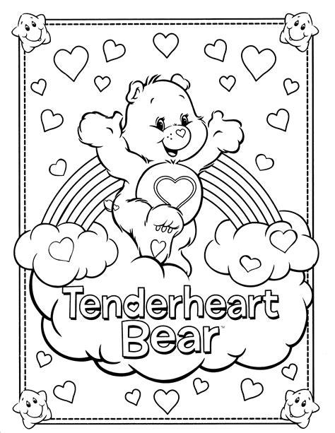 wonderheart bear coloring page care bear coloring pages coloringsuite com