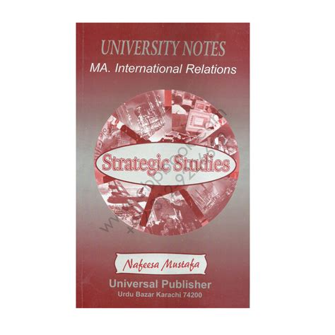 Ma In International Relations And Mba ma international relations strategic studies nafeesa