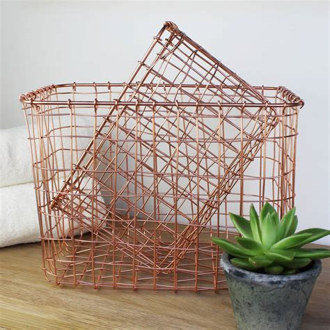 Dachshund Planter by Copper Wire Storage Baskets By Marquis Amp Dawe