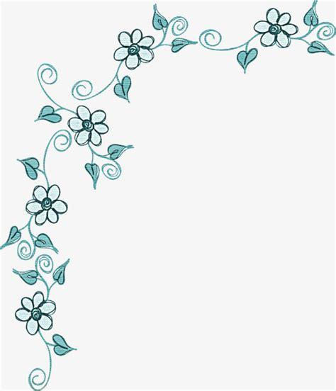 cenefas flores cenefa decorativa frame lace flores imagen png para