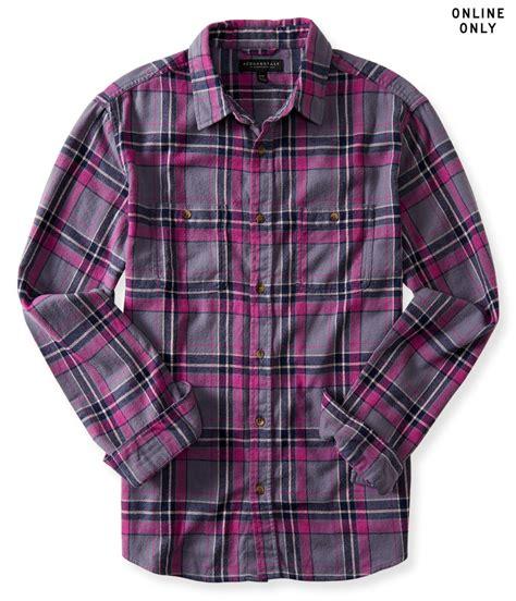 Finest Flannel flannel plaid shirt purple
