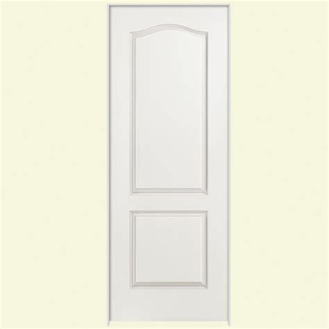 Masonite 36 In X 80 In Solidoor Smooth 2 Panel Arch Top Top Interior Doors