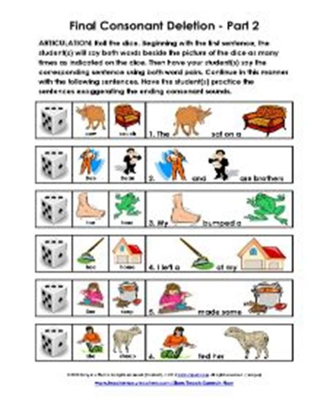 consonant deletion worksheets best 25 consonant deletion ideas on minimal pair articulation activities and