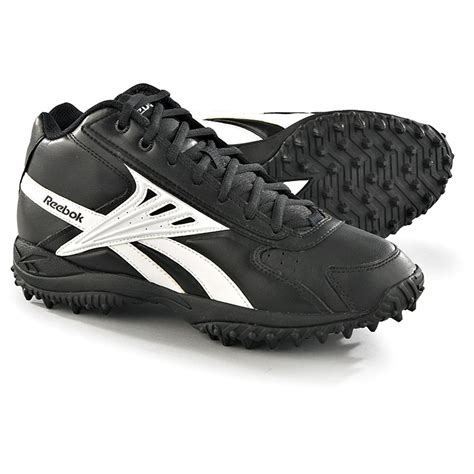 reebok football shoes s reebok 174 nfl ref mid turf shoes black white