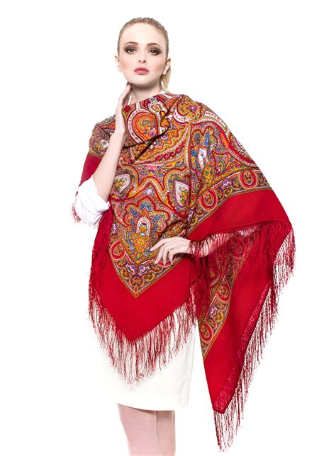 russian scarf with fringes