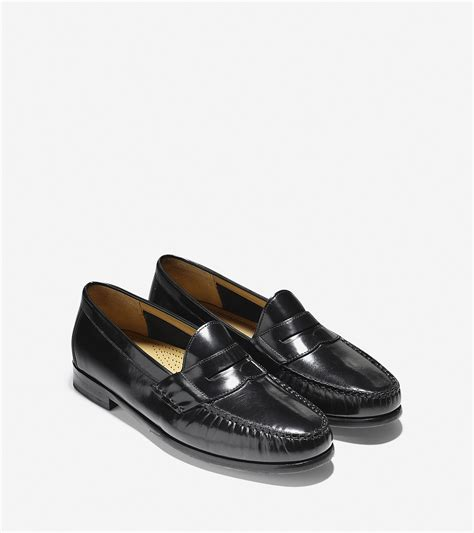 black cole haan loafers cole haan ascot loafer in black for black brush
