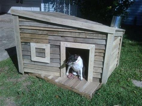 how to make dog houses dog house out of pallets recycled things