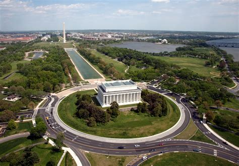 washington dc map lincoln memorial file aerial view of lincoln memorial west side jpg