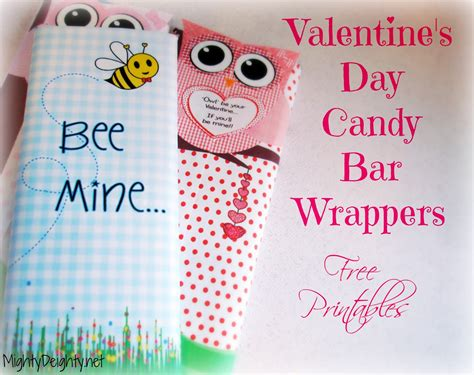 mighty delighty valentine s day candy bar wrappers free