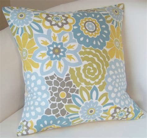 blue yellow pillows decorative pillow cover spa blue yellow cushion throw accent