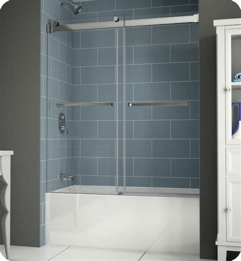 sliding bathtub shower doors fleurco npt60 gemini plus frameless bypass sliding tub doors
