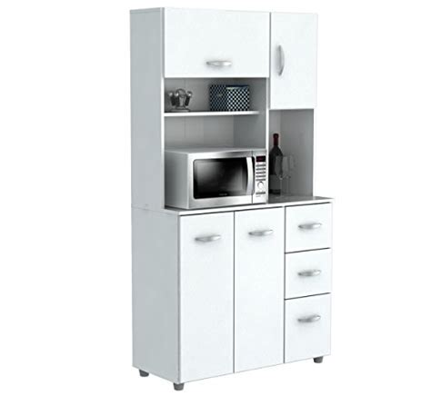kitchen storage carts cabinets inval america 4 door storage cabinet with microwave cart