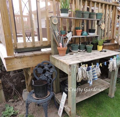 gardening work benches the garden workbench craftygardener ca