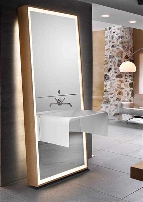 bathroom sink with mirror bathroom mirror ideas sink mirror storage combo by