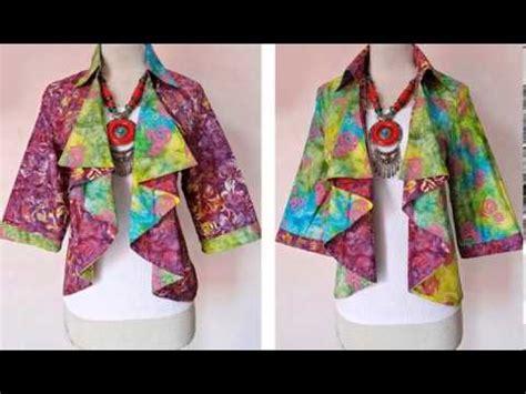 design blazer batik modern blazer batik modern koleksi batik solo cantik youtube