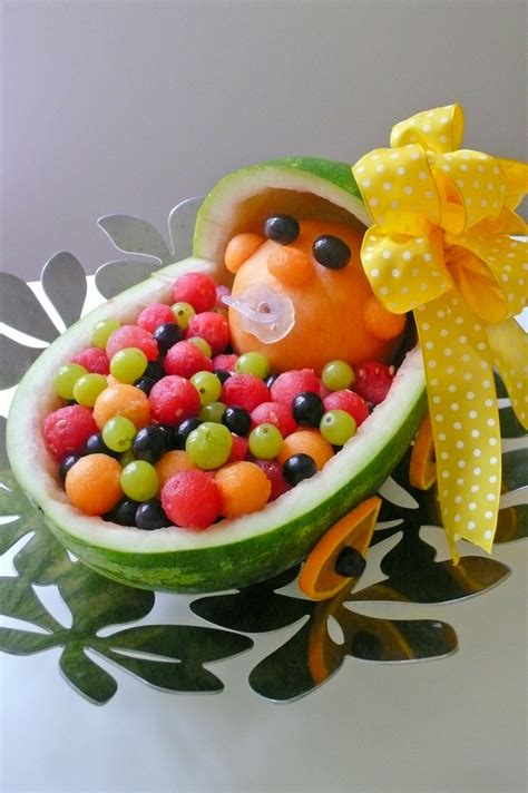 fruit trays for baby shower baby in stroller fruit tray baby shower ideas pinterest