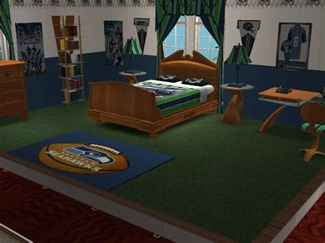 mod the sims seattle seahawks football bedroom requested