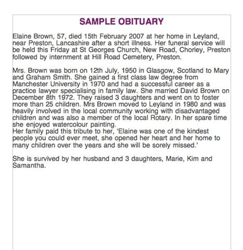 sle obituary templates newspaper obituary template 28 images 15 obituary