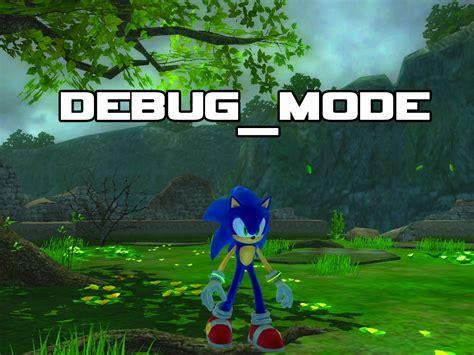 banished game debug mode debug mode for sonic the hedgehog 2006 mod db