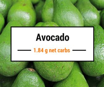 1 avocado carbohydrates 9 low carb fruits you can still eat on the ketogenic diet