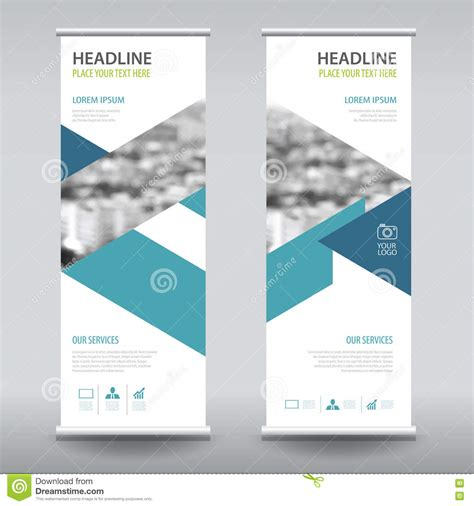 roll up business brochure flyer banner design vertical