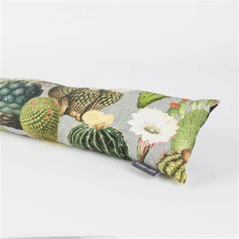 zugluftstopper 110 cm zugluftstopper kaktus kakteen grau gr 252 n 80 bis 130cm lang