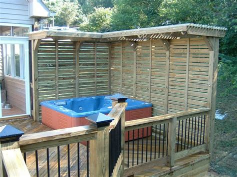 Hot Tub Deck Design Gorgeous Decks And Patios With Hot Patio Plans Free Design