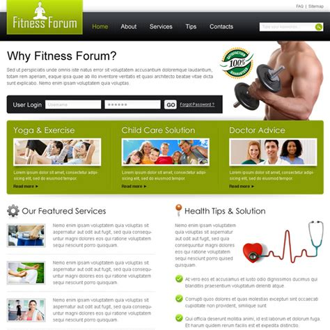 best website for health and fitness creative best website template psd for sale to create