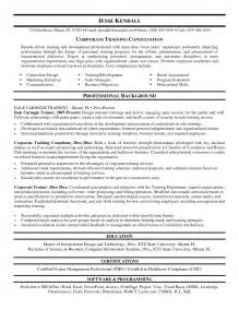 Corporate Sle Resume by 12 Sle Corporate Trainer Resume Recentresumes