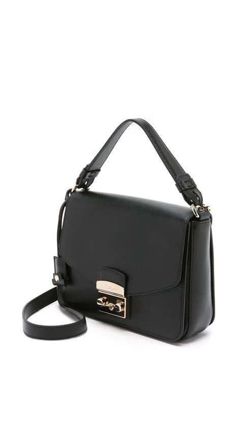 Furla With Pouch furla metropolis small shoulder bag in black lyst