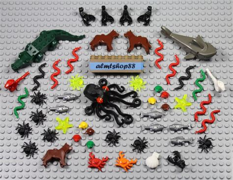 Murah Lego Octopus Animal New lego 52 pcs animals lot crocodile shark octopus crab clam fish spider snake ebay