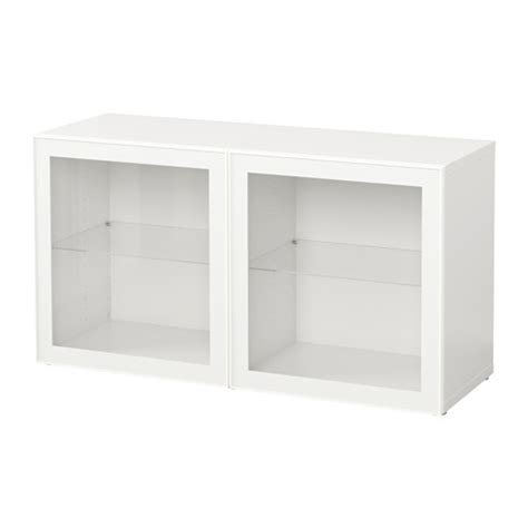 Ikea Besta Unit Best 197 Shelf Unit With Glass Doors White Glassvik White