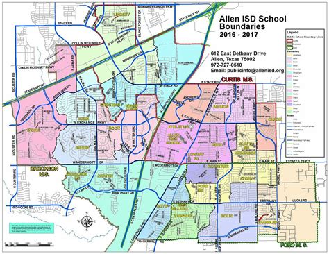 map allen texas find a school boundary maps