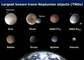Eight of the largest trans neptunian objects wikimedia commons