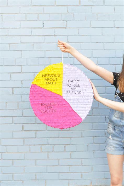 Handmade Chart Paper - pie chart back to school pinata handmade
