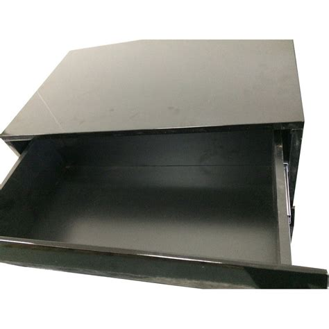modern bedside table with 2 drawers in gloss black buy