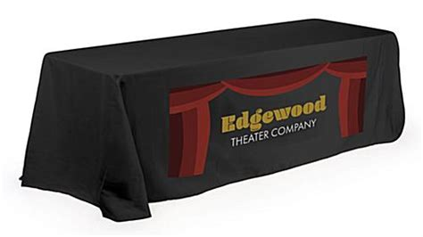 exhibit table covers with logo table cover with logo for booths additional styles colors