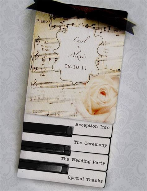 Best 25  Music wedding invitations ideas on Pinterest