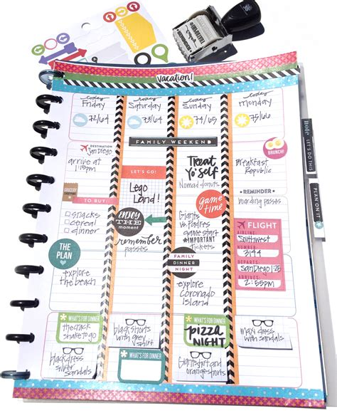 turning the happy planner planner into a travel
