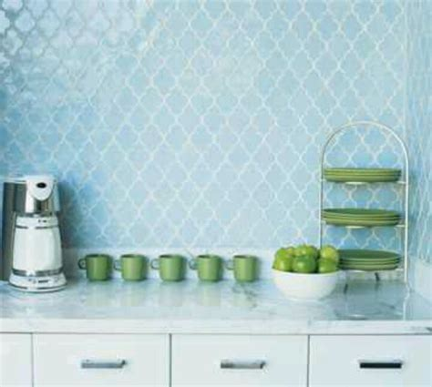 light blue kitchen backsplash walker zanger tile house inspiration