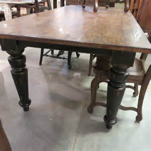 rustic farmhouse dining table 84 black distressed