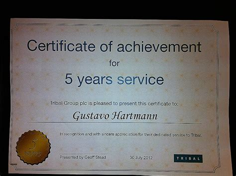years of service certificate templates free certificate templates
