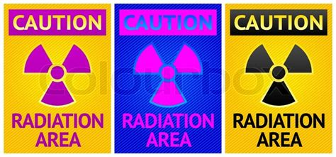 printable caution radiation area sign stikers caution sign labels radiation hazard symbol