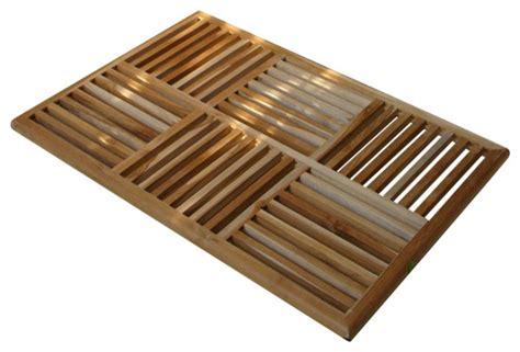 mat teak basket weave floor mat doormats