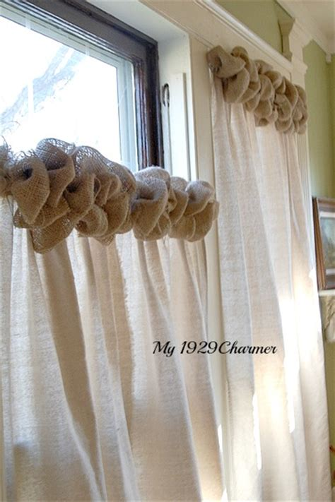 absolutely curtains tutorial burlap trimmed drop cloth curtains absolutely