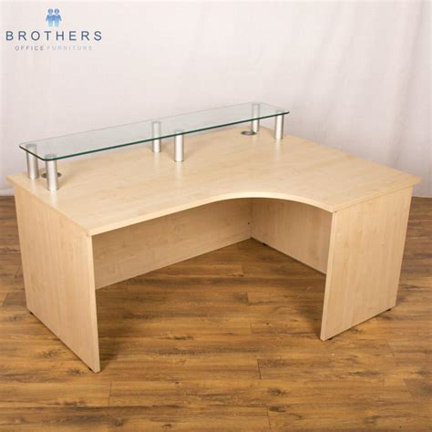 Maple Reception Desk Maple 1600x1200 Reception Desk