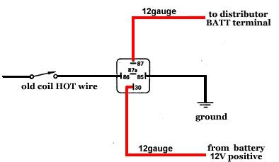 dui distributor installation relay wiring diagram 12 volt