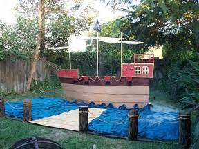 Build Backyard Playhouse 1000 Images About Cardboard Pirate Ship Props Ideas On